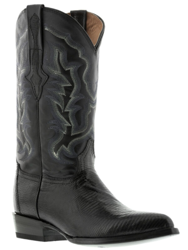 mens, black, all, real, lizard, armadillo, skin, leather, western, cowboy, boots, rodeo, new