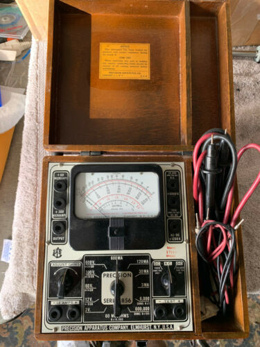 Vintage 1945 Precision Apparatus Series 856 With Wooden Case
