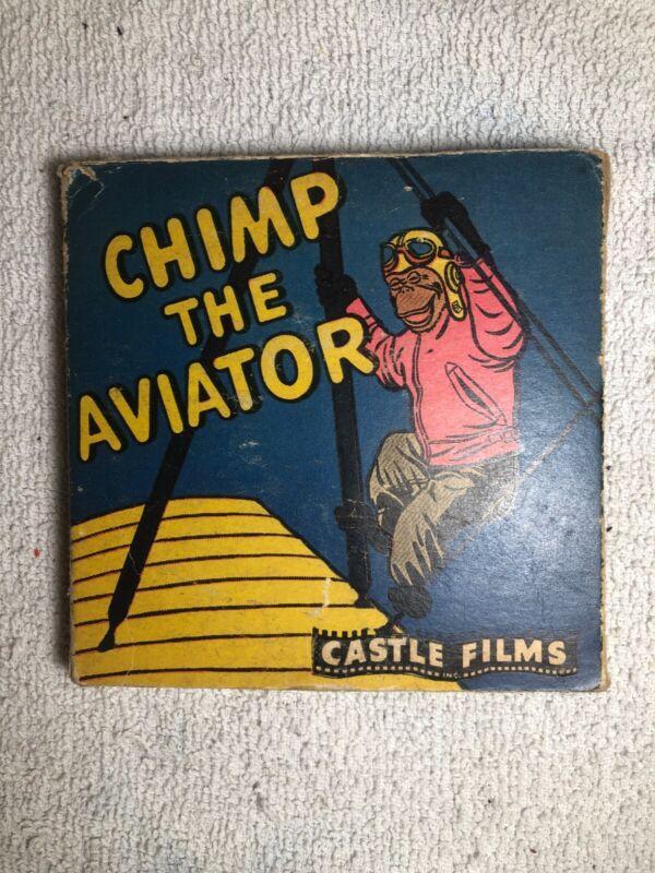 Castle Films Chimp the Aviator 8mm No. 617 Headline Edition with Original Box