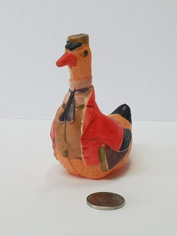 Vintage Celluloid Easter Toy Duck Professor or Mail Carrier
