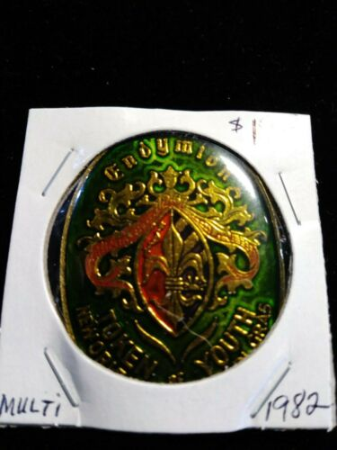 1982 Endymion Oval Multi-color Doubloon - Mardi Gras