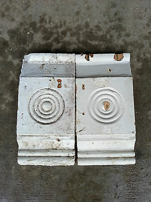 Antique Bullseye Hand-carved ? Architectural Salvage Painted-chippy farmhouse #1