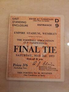 1953-FA-Cup-Final-Ticket-Blackpool-v-Bolton-Wanderers-original