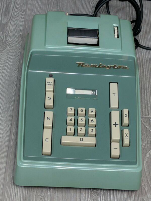 Vintage Remington Rand Model 41012-10 Bookkeeping Adding Machine Calculator