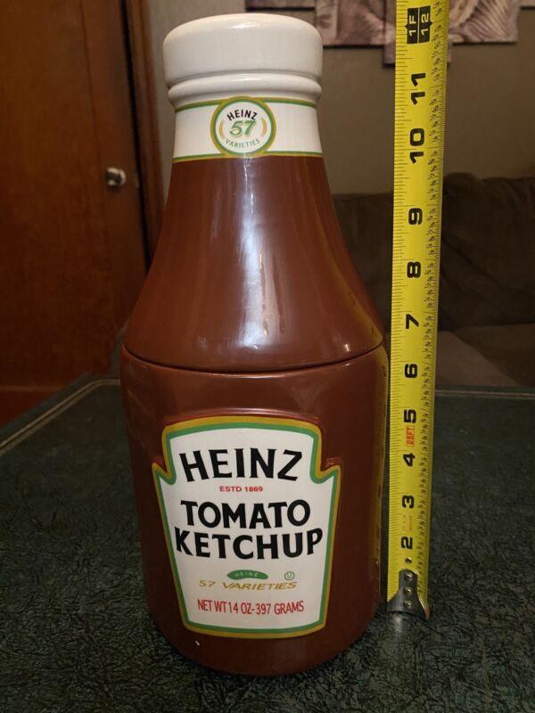 Vintage HEINZ Tomato Ketchup Bottle Advertising Cookie Jar 2000