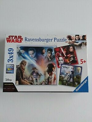 Ravensburger Star Wars Episode VIII The Last Jedi 3x 49pc Jigsaw Puzzles