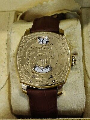 RARE Invicta Men's Jumping Hours Dragon Tresor Automatic Watch full package