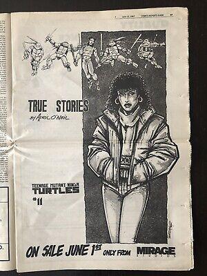 Comics Buyer's Guide CBG 708 Rare TMNT Mirage Ad April Casey Eastman 1987