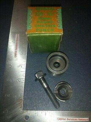Vintage Greenlee No.730 1-18 Radio Chassis Punch Original Box