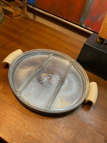 Vintage Art Deco Chase Chrome Tray