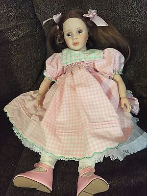 """Collectible doll Pauline """"Brittany"""" 152/950 19-1/2in tall porcelain w/box,COA"""