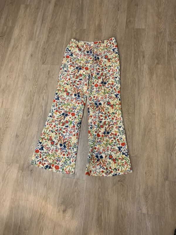 Vintage Floral Low Rise Bell Bottoms 1970's