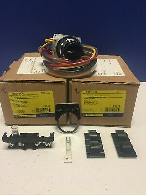 SQUARE D 9999SC8  Hand-Off-Auto Selector Switch Kit (LOT OF 2) Free (Hand Off Auto)