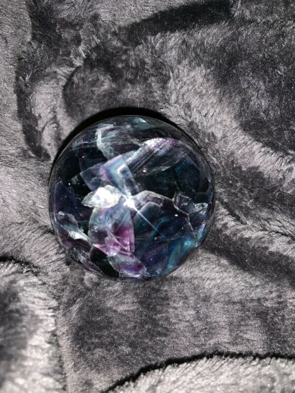 Green Purple Fluorite Sphere