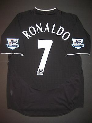 03 05 Nike Manchester United Cristiano Ronaldo Jersey Shirt Real Madrid Black