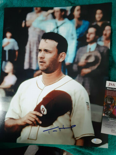 Tom Hanks  Autographed 11X14 great PHOTO League of their own  JSA Certified
