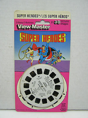 1979 SUPER HEROES View-Master 3 Reels- BATMAN/WONDER WOMAN/SUPERMAN (L8690)
