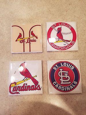 St. Louis Cardinals 4x4 Ceramic Coasters Handmade (Louis Cardinals Ceramic)