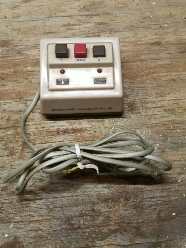 Vintage Radio Shack Duofone 2 line controller with hold