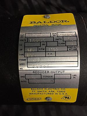 Baldor Industrial Motor 180 Dc 1a 15 Hp 1750 Rpm
