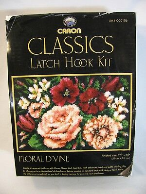 (Caron Classics Latch Hook Kit Floral D'vine 20