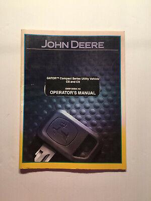 John Deere Cs Cx Compact Utility Vehicle Gator Operators Manual Omm150904 H3
