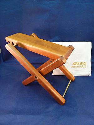 Ultra Wooden Footstool Guitar Folding Adjustable Footrest with Storage Bag