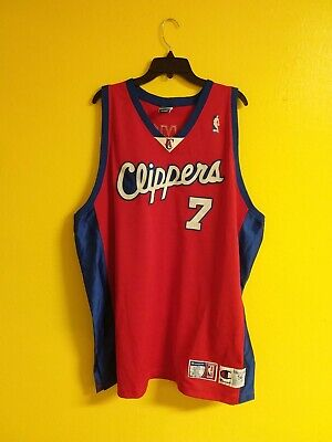 🏀 LOS ANGELES CLIPPERS #7 VTG AUTHENTIC CHAMPION NBA JERSEY MENS - 56