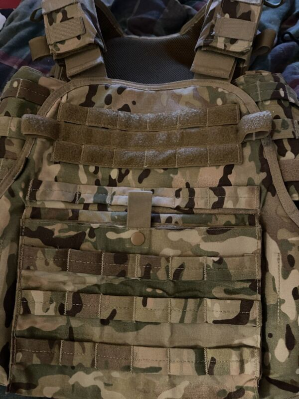 Multicamo Plate Carrier With Side Armour Inserts -no plates