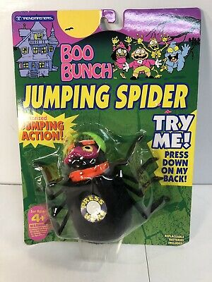 Trendmasters Halloween BOO BUNCH JUMPING SPIDER ON CARD 1993 Action - Halloween Action Cards