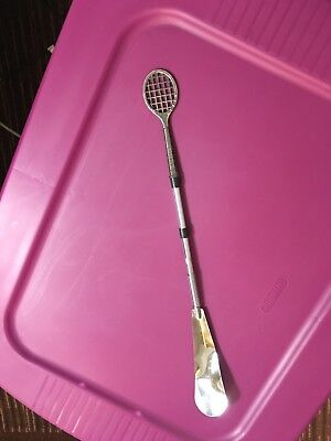 - Used Vintage Silver Toned Shoe Horn Tennis Racket Theme