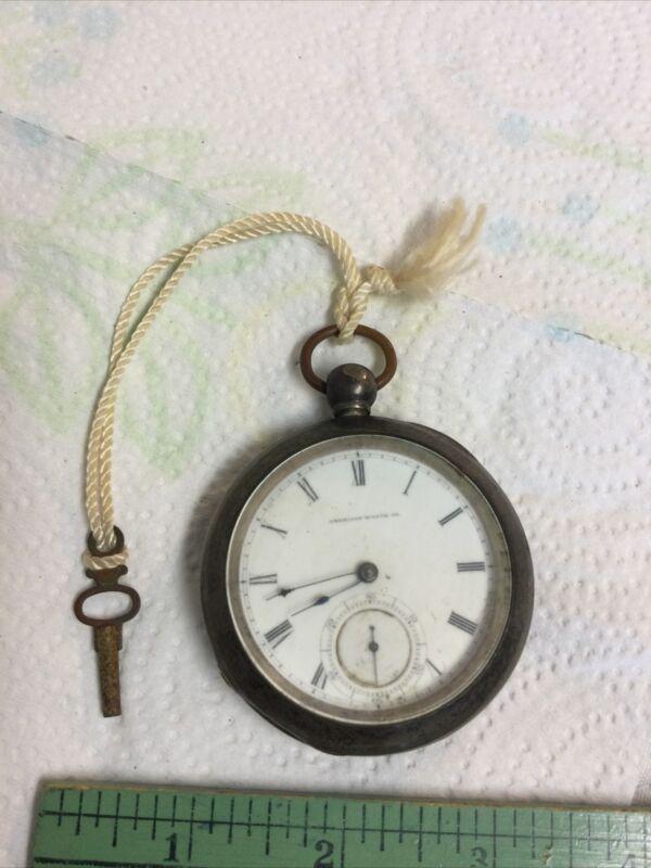 Antique Pocket Watch American Waltham Bartlett 1857 Coin Silver Key Wind Working