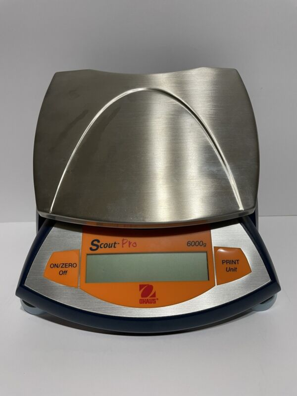 Ohaus Scout Pro SPE6000 d=0.1g Max=6000.0g Balance Portable Scale Working Great!