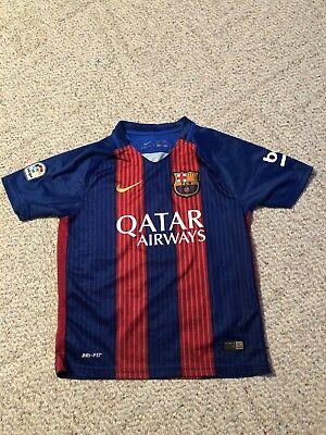 ac19e8164 Lionel Messi FCB Barcelona Boys 24 Kit Jersey Nike 2016  10 DRI-FIT X-Small
