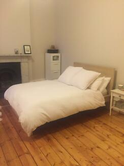 Almost New - Malm Double Bed Frame, Slats, Mattress & Mid-beam Fitzroy Yarra Area Preview