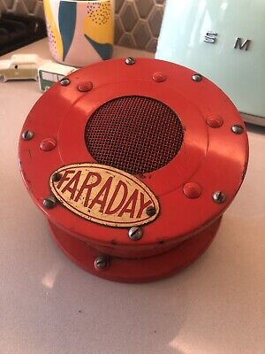 Faraday Fire Alarm Red Type 2 Speaker Sperti Vintage Antique Sign Wall House