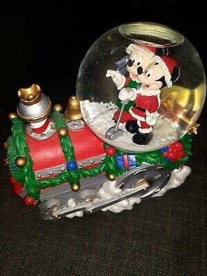 Disney Mickey & Minnie Christmas Train Musical Snow Globe - Snowglobe