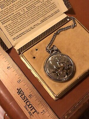 Girard Perregaux Vintage, Shell Oil, Pocket Watch From The 1930's. WORKS!