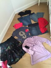 Maternity clothes denim skirt jeans t shirts egg mbc good condition Balgowlah Manly Area Preview