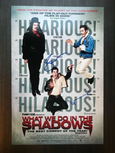 * WHAT WE DO IN THE SHADOWS * signed 12x18 photo poster * CLEMENT & WAITITI * 1