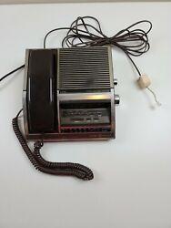 Vintage General Electric Phone Alarm Clock AM FM Radio Model 7-4705 TESTED!