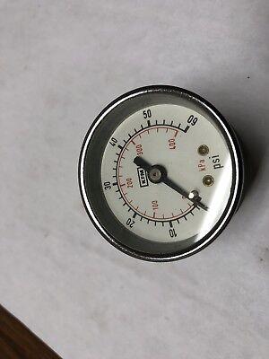 2 Pressure Gauge 0-60 Psi 14npt Back Mount Restrictor New