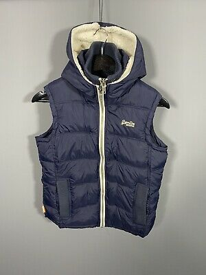 SUPERDRY Gilet Bodywarmer - Small - Navy - Hooded - Great Condition - Men's