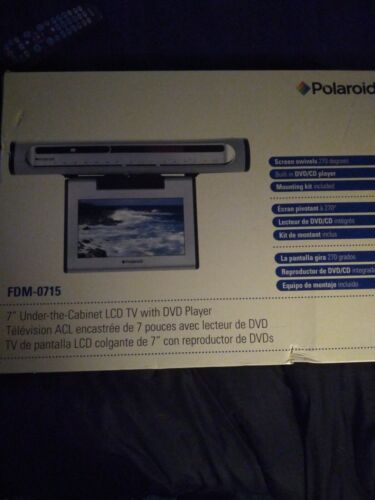 Polaroid FCM-1010 10-Inch Under-the-Cabinet LCD TV  AM FM Stereo Alarm Clock