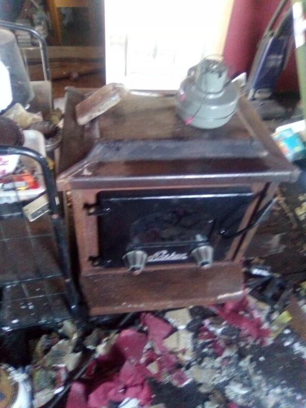 Nashua Wood burner stove NFP 1 being restored