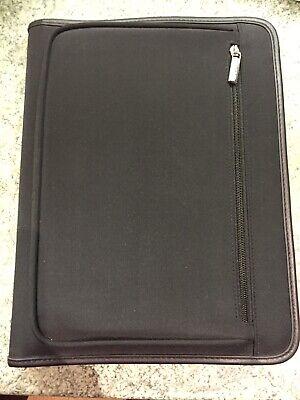 Vintage Volvo Zippered Black Padfolio Folder 14 X 11 Portfolio New