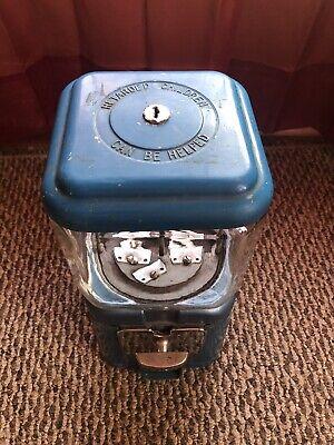 Vintage 1950s Retarded Children Can Be Helped ACORN Glass Gum Machine