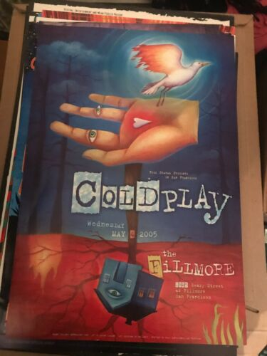 Coldplay  Poster the Fillmore S.F. 5/4/05
