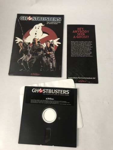 Computer Games - ACTIVISION GHOSTBUSTERS  COMPUTER GAME COMMODORE 64 5.25""