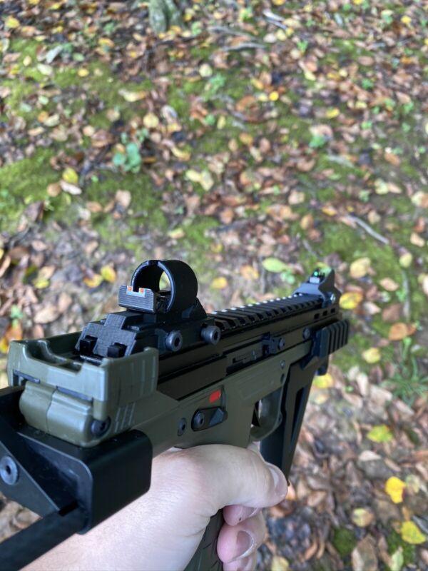 Kel-Tec CP33 Iron Sights, black, 13mm sight risers for OEM CP33 sights, PLA+